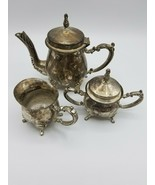 International Silver Company Coffee Tea Set Silver Plate Creamer Sugar - $26.68