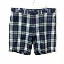 Polo Ralph Lauren Flat Front Plaid Shorts Mens 42 100% Cotton India - $15.88