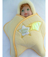 SHINING STARS Doll w Carrier Mattel Yellow Glow in the Dark Red hair gre... - $19.79