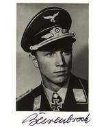 Franz-Josef Beerenbrock signed photo. Luftwaffe Ace.117 Kills. JG-51 - $36.00