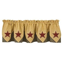 Park Designs Country Star Lined Point Valance, 72 x 15 - $37.59