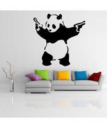 Banksy Vinyl Wall Decal Panda with Pistols, Street Art Decor Home Sticker Mural - $7.91 - $197.99