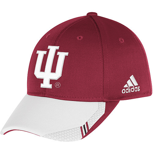 Primary image for  Adidas NCAA College INDIANA HOOSIERS Football Curved Hat Cap Size L/XL