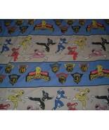 VINTAGE 1994 MIGHTY MORPHIN POWER RANGERS TWIN FLAT SHEET BEDDING BLUE P... - $22.21