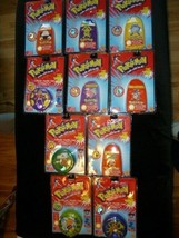 Vintage Pokemon Marble Lot - Complete Set of 10 - Cases Bags Marbles Pouches - $227.69