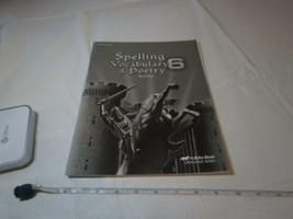 Spelling Vocabulary Poésie Test Clé Professeur 6 Livre A Beka École Home... - $12.84