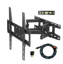 TV Wall Mount Bracket with Full Motion Articulating Dual Arm Swivel Tilt fit 23
