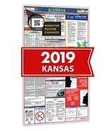 2019 Kansas All in One Labor Law Posters for Workplace Compliance - $28.34