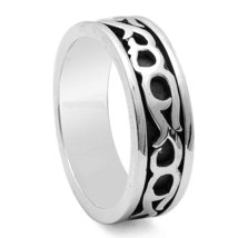 Men's Celtic Design Sterling Silver Ring - $29.99