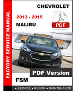 CHEVROLET MALIBU 2013 2014 2015 SERVICE REPAIR FACTORY WORKSHOP MANUAL - $14.95