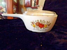 Vintage Corningware Spice of Life La Marjolaine sauce pan P-83-B with lid - $24.75
