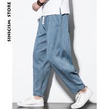 Sinicism Store Plus Size Cotton Linen Harem Pants Mens Jogger Pants 2019... - $18.49+