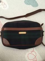polo ralph lauren Blackwatch Plaid Green Check Crossbody Bag Handbag Used - $197.99