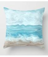 Throw Pillow Case Cushion Cover Made USA Sea View 267 blue ocean beach L... - $29.99+