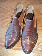 Lucky Brand Brown Cowboy Ankle Boots SIze 8 Great Boots - $24.74