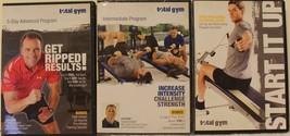 3 Total Gym workout DVD lot Start it up Intermediate program 5-day advanced - $37.99