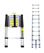 10.5 FT Aluminium Multi-Purpose Telescopic Ladder Extension Foldable Steps - $49.95