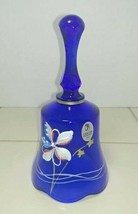Fenton USA Patriotic Red White & Blue Art Glass Bell 4th of July Stars &... - $12.82