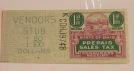 Vintage Sales Tax Vendor's Stub Receipt State of Ohio 1.50 - $4.94