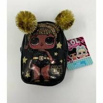 L.O.L. Mini Backpack Keychain Black & Gold #GLAM LIFE - $9.37