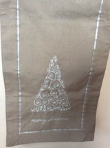 Christmas Table Runner 14 in x 72 in, Embroidered With Pearl, Christmas ... - $26.00