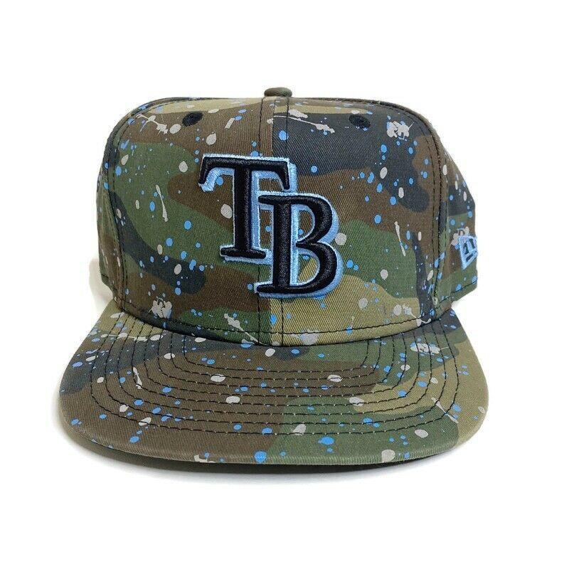 Tampa Bay Rays New Era MLB SnapBack Hat Genuine Merchandise Paint Splatter - $13.99
