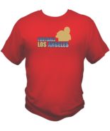 Los Angeles Football Team Sports Style Graphic T Shirt Black Red White L... - $19.99