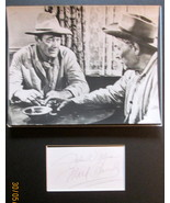 JOHN WAYNE ,WARD BOND (RIO BRAVO) ORIGINAL VINTAGE AUTOGRAPHS (CLASSIC) - $1,500.00