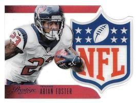 2014 Arian Foster Panini Prestige NFL Shield Die Cut - Houston Texans - $1.89