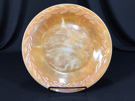 "Vintage Fire King Oven Ware Plate Made In USA Iridescent Peach Luster 9"" - $8.99"