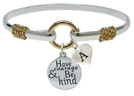 Custom Have Courage and Be Kind Silver Gold Bracelet Jewelry Initial or Family - $14.87