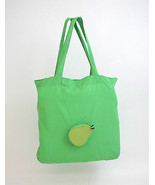 Bey Berk Green Pear Re-usable Foldable Bag Recycled Leather/Nylon - $14.95