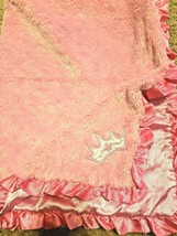 Baby Starters Girl Blanket Pink Satin Ruffle Princess Crown Tiara  - $39.58