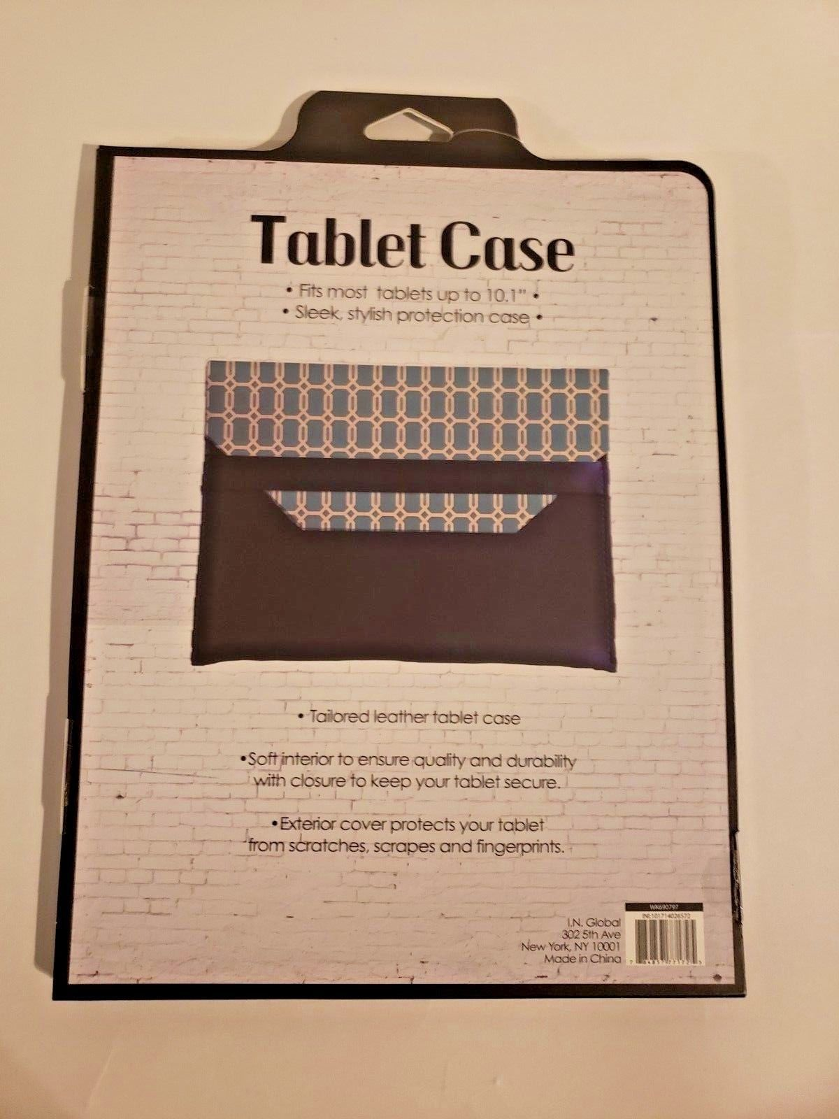 """Tailored Leather Tablet Case Fits Up To 10.1"""" (Teal and Dark Blue) image 4"""
