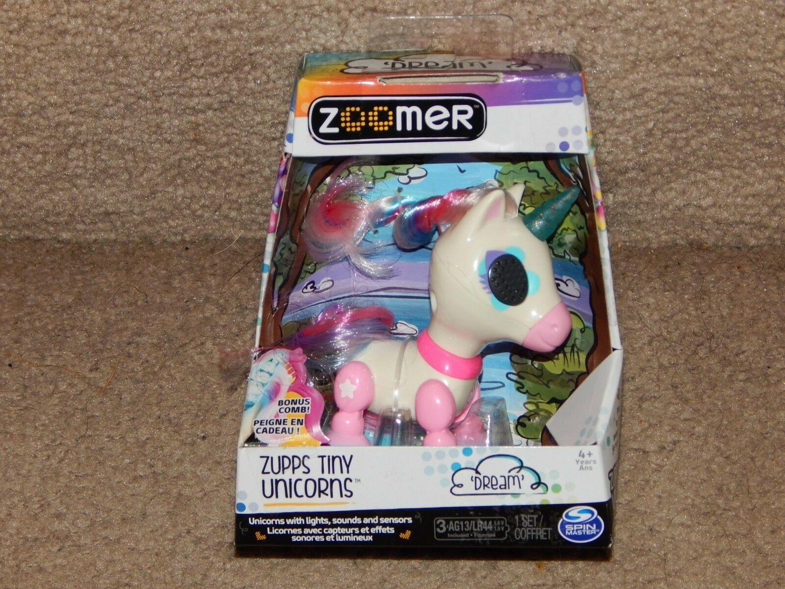 New! Zoomer Zupps Tiny Light-Up Horn Unicorns Figure Dream 4+ Free Shipping