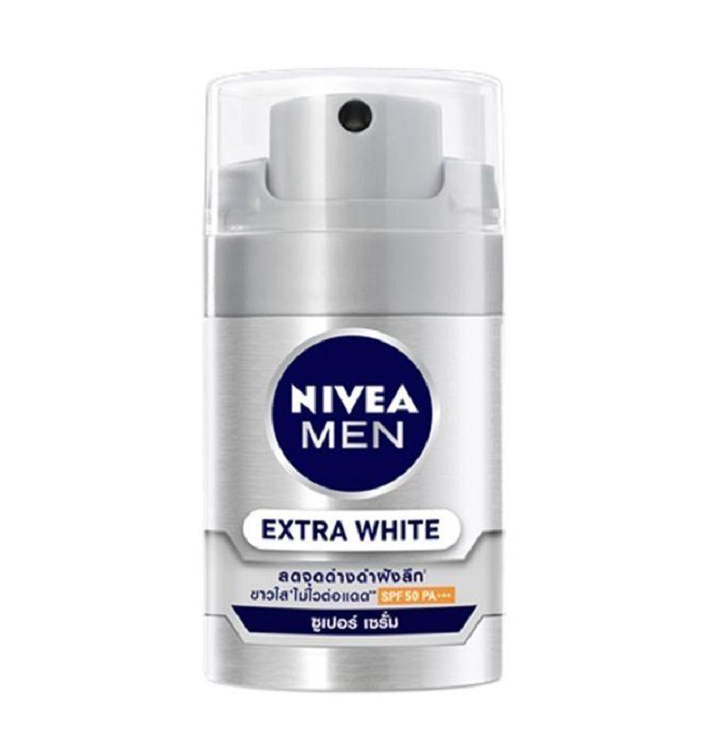 NIVEA Men Extra White Super Serum Men Face Care SPF 50 For Normal-Oily Skin 50ml image 2