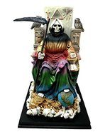 Ebros 7 Colors Rainbow Robe Santa Muerte Holy Sacred Death Bone Mother S... - $45.49
