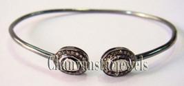 Handmade Vintage Style 0.45Ct Rose Cut Diamond Polki 925 Silver Bracelet... - $260.01