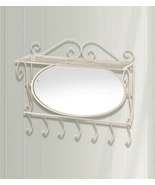 Mirrored Wall Shelf with Hooks - $32.62
