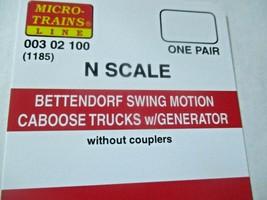 Micro-Trains Stock # 00302100 (1185) Bettendorf Swing Motion Caboose Trucks (N) image 2