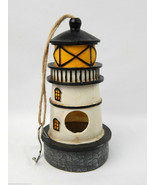 """Brand New Lighthouse Hanging Bird feeder 9.5"""" tall Painted Resin Seed Food - £18.25 GBP"""