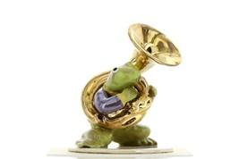 Hagen Renaker Miniature Frog Toadally Brass Band Tuba Ceramic Figurine image 1