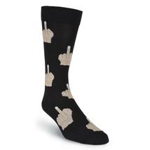 Men's Middle Finger Crew Socks K Bell  New Black Shoe Size 6.5-12 FREE S... - $11.87