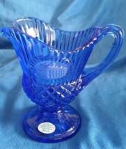 Fostoria Avon Creamer Pitcher Mount Vernon George Washington Cobalt Blue - $27.00