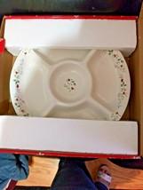"Pfaltzgraff  16"" Round ,  5 Section Platter, Winterberry Pattern - $49.45"