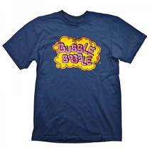 Official BUBBLE BOBBLE Vintage Logo T-Shirt Retro Gaming Gift - $26.50