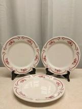 """VTG Mid Century 3 Homer Laughlin BEST CHINA American Rose Dinner Plates 9 3/4"""" - $186.07"""