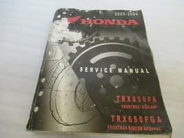 2003-2004 Genuine Honda Outboard TRX650FA/TRX650FGA Service Manual - $41.59