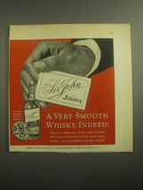 1959 Schenley Sir John Whisky Ad - A very smooth whisky, indeed - $14.99