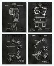"4 Bathroom Patent Prints - 8""x10"" - Unframed Restroom Wall Art Decor Cha... - $16.99"